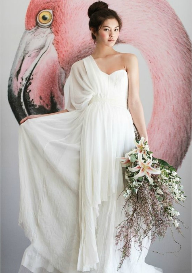 Grecian Wedding Dress.7 Swoon Worthy Grecian Wedding Gowns Bajan Wed