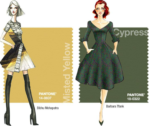 Pantone Fall 2014: Misted Yellow and Cypress