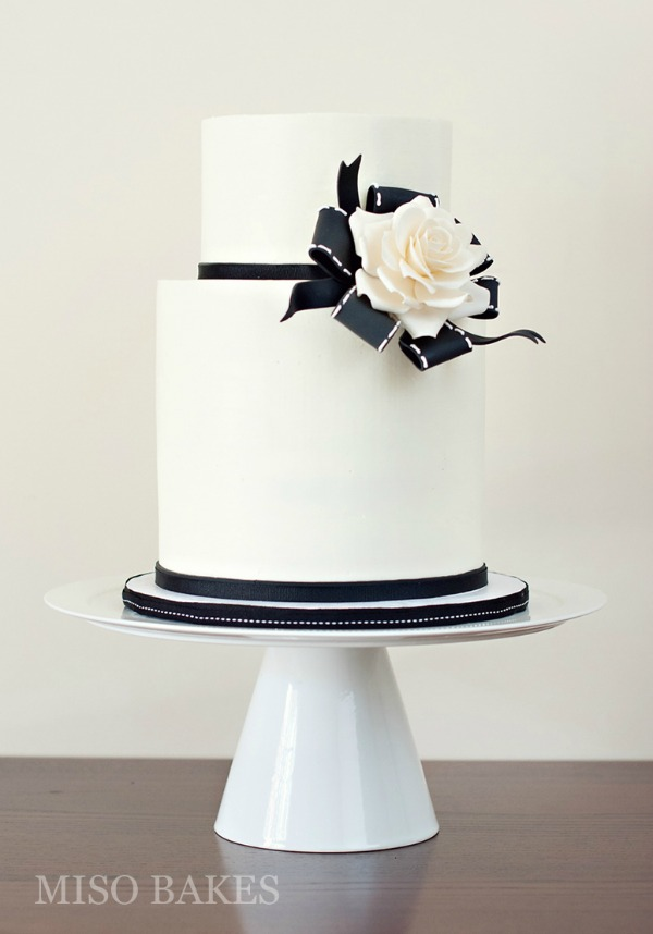 Modern Black And White Wedding Cakes Bajan Wed