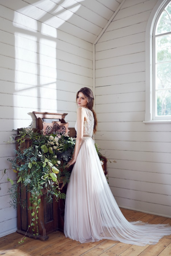 'Trinity' Wedding Dress With Nude Slip | Karen Willis Holmes 2014 Bridal Collection | Bajan Wed