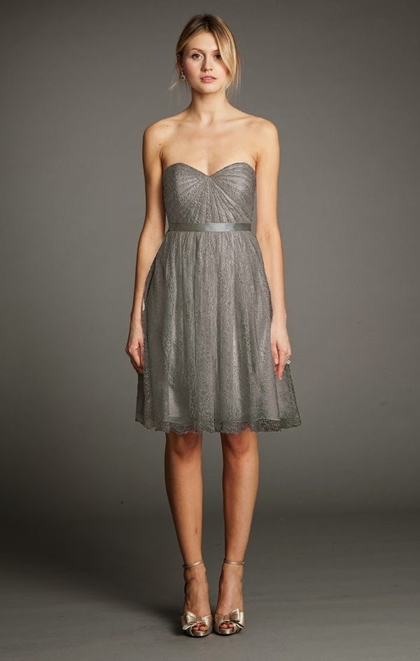 Aster in Slate Chantilly Lace | Jenny Yoo 2014 Bridesmaid Collection | Bajan Wed
