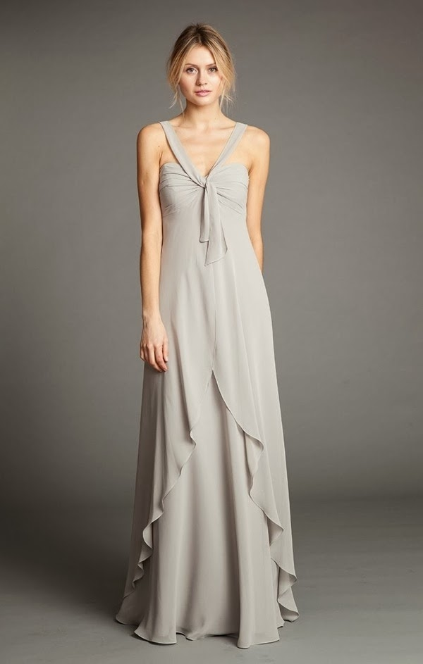 Suri worn as a draped halter | Jenny Yoo 2014 Bridesmaid Collection | Bajan Wed