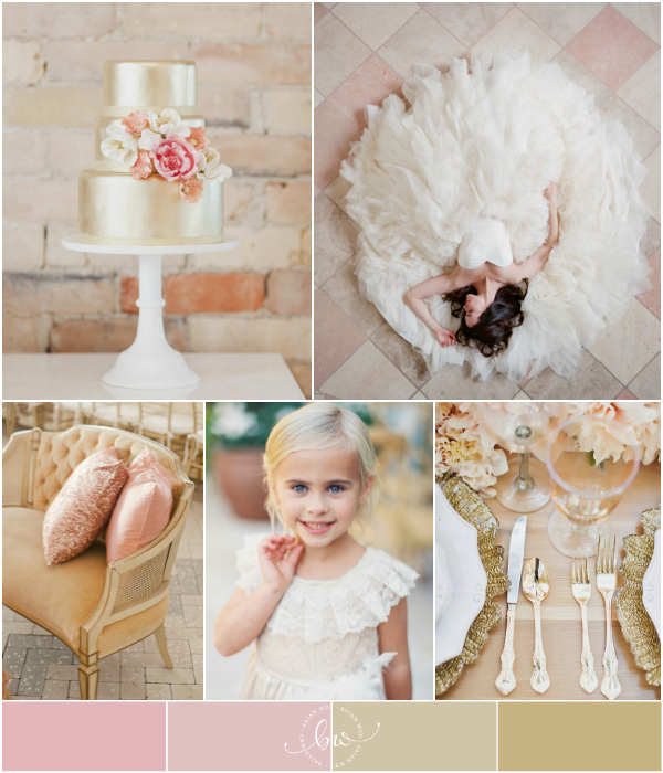 Pink and Gold Wedding Inspiration : pink, white and gold palette | Bajan Wed