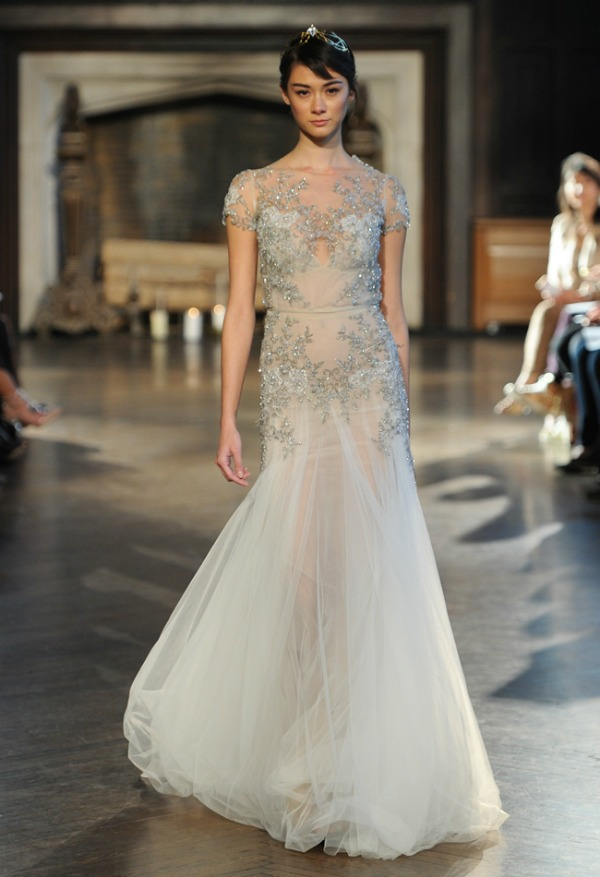 Inbal Dror Fall 2015 Bridal Collection | Fit and Flare Wedding Dress