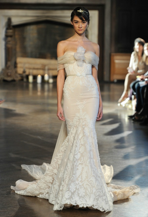 Inbal Dror Fall 2015 Bridal Collection | Strapless Lace Wedding Dress