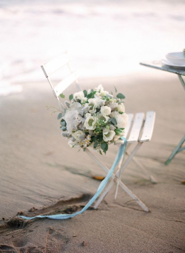 Watercolor Seaside Wedding Inspiration | Esther Sun Photography