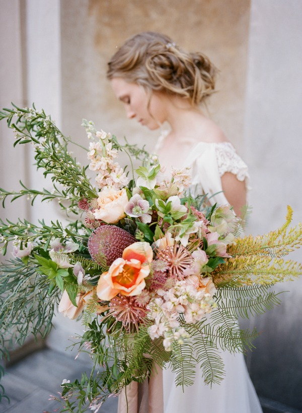 Best Bouquets 2015 | Swan House Wedding Inspiration From Archetype Studio Inc