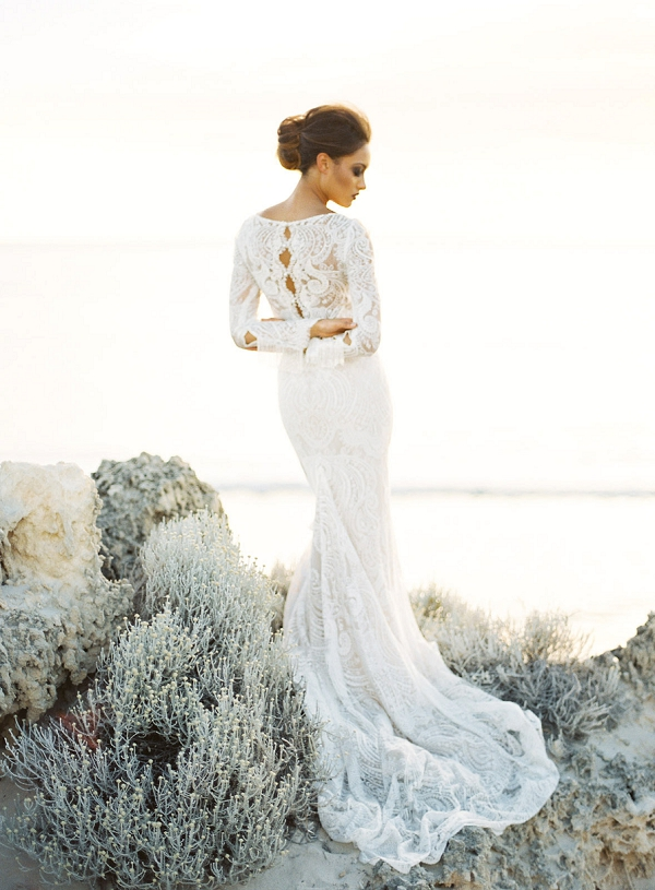 Beach Destination Bridal Inspiration | Feather and Stone Photography