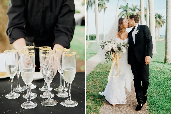 Glamorous Black and Gold Miami Wedding By Merari Photography