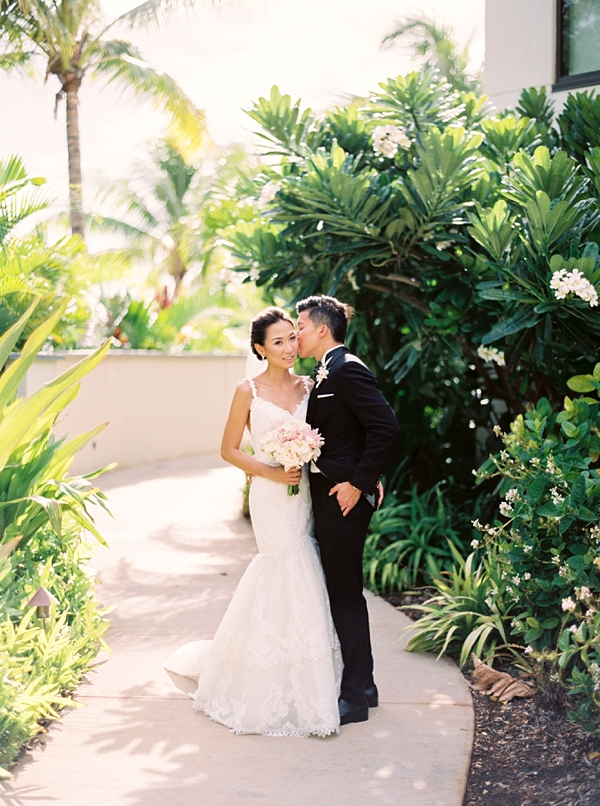 Bride and Groom Destination Hawaii Wedding at Andaz Maui At Wailea from Photographs by Caileigh