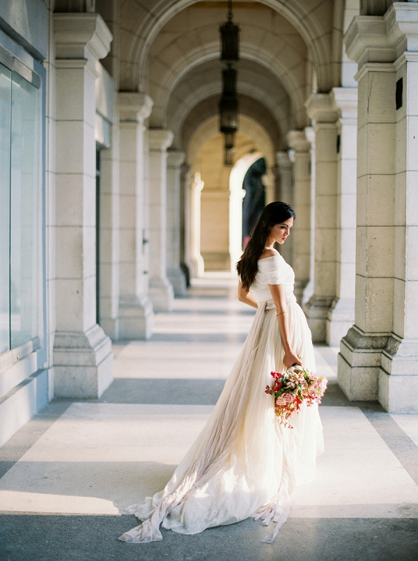 Bride in Loho Bride Wedding Dress | Ethereal Bridal Inspiration in Cuba from Greer Gattuso Photography