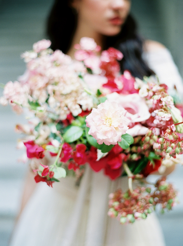 Pink Textured Bouquet | Ethereal Bridal Inspiration in Cuba from Greer Gattuso Photography