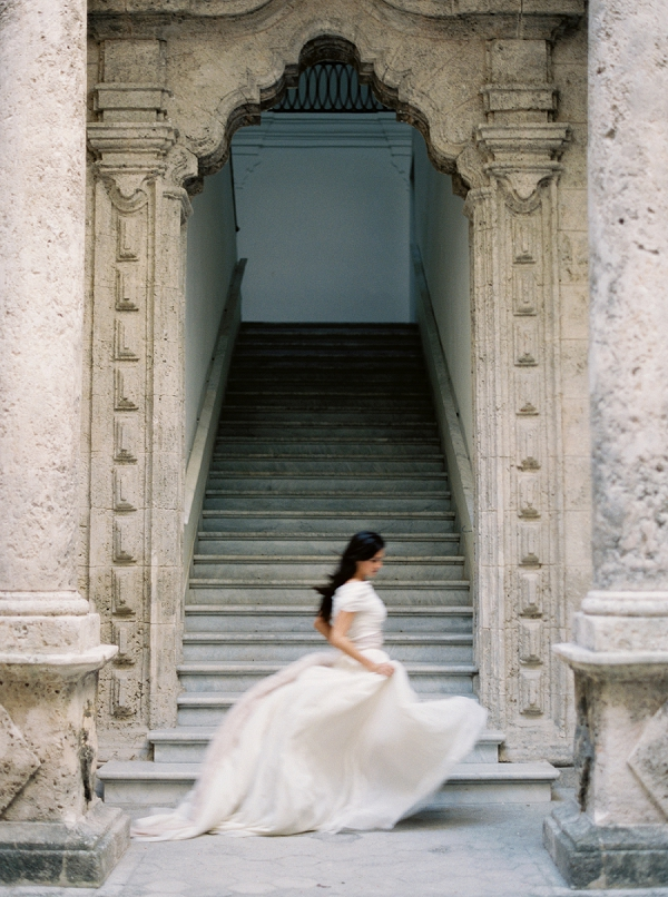 Movement | Film Photography | Ethereal Bridal Inspiration in Cuba from Greer Gattuso Photography