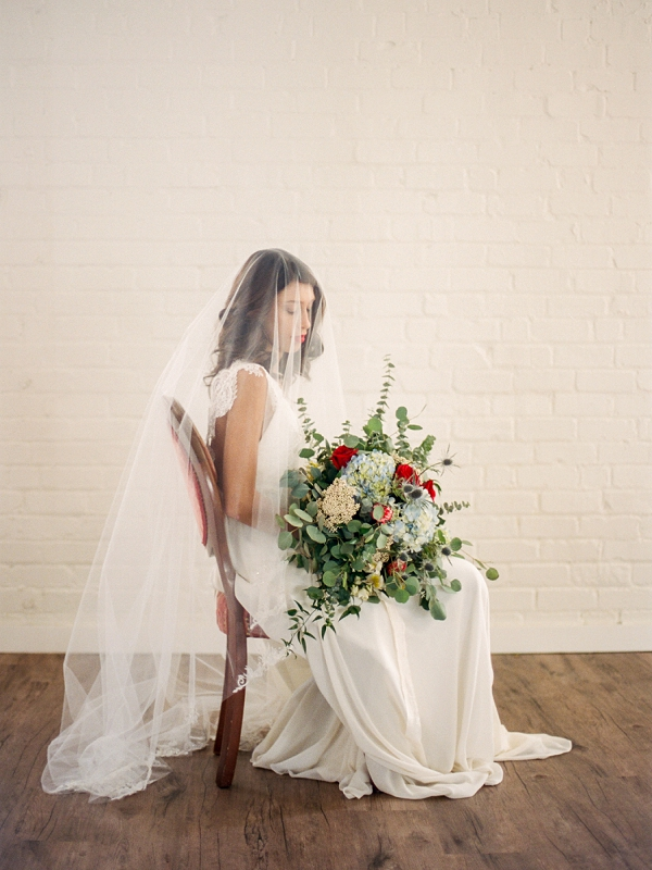 Bride With a Large Textured Bouquet   The Wait: Reflective Fine Art Bridal Inspiration By Live View Studios