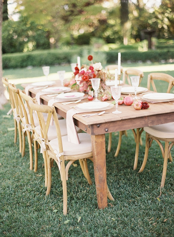 Outdoor Wedding | Blush and Merlot Color Palette Inspiration By Jessica Kay Photography