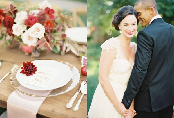 Blush and Merlot Color Palette Inspiration By Jessica Kay Photography