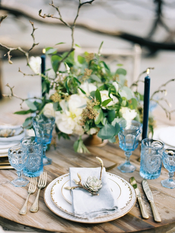 Elegant Organic Tablescape | Coastal Fine Art Bridal Inspiration from Perry Vaile Photography