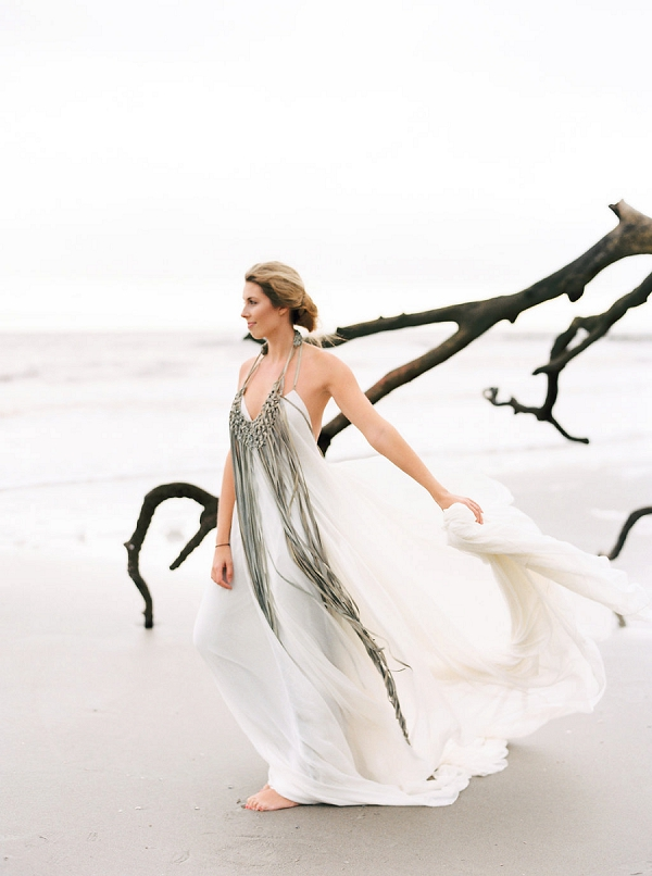 Wedding Dress | Coastal Fine Art Bridal Inspiration from Perry Vaile Photography