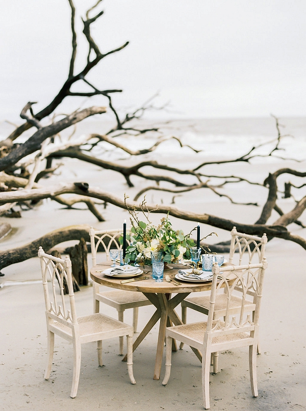 Beach Inspired Tablescape | Coastal Fine Art Bridal Inspiration from Perry Vaile Photography