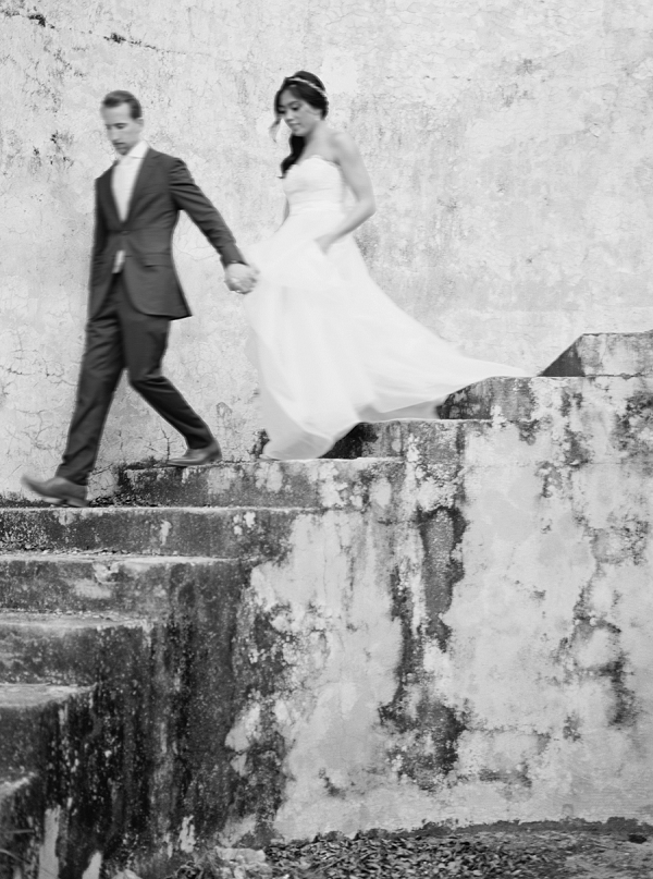 Black and White Capture | Bride and Groom | Colorful Destination Wedding In Mexico By Brittany Lauren Photography