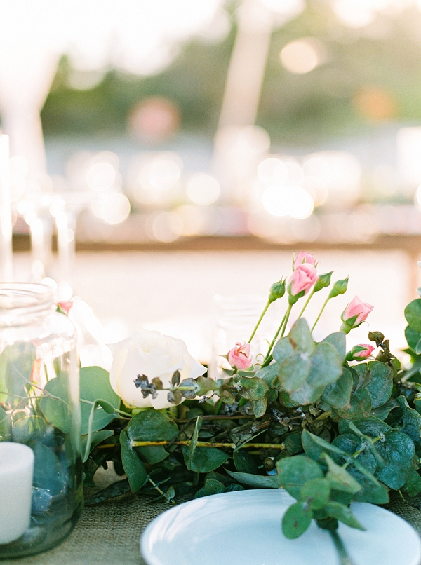 Floral Runner and Candles | Colorful Destination Wedding In Mexico By Brittany Lauren Photography
