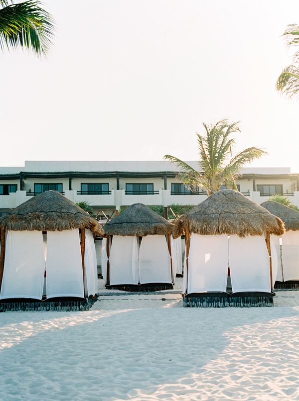 Beach Huts In Mexico | Colorful Destination Wedding In Mexico By Brittany Lauren Photography