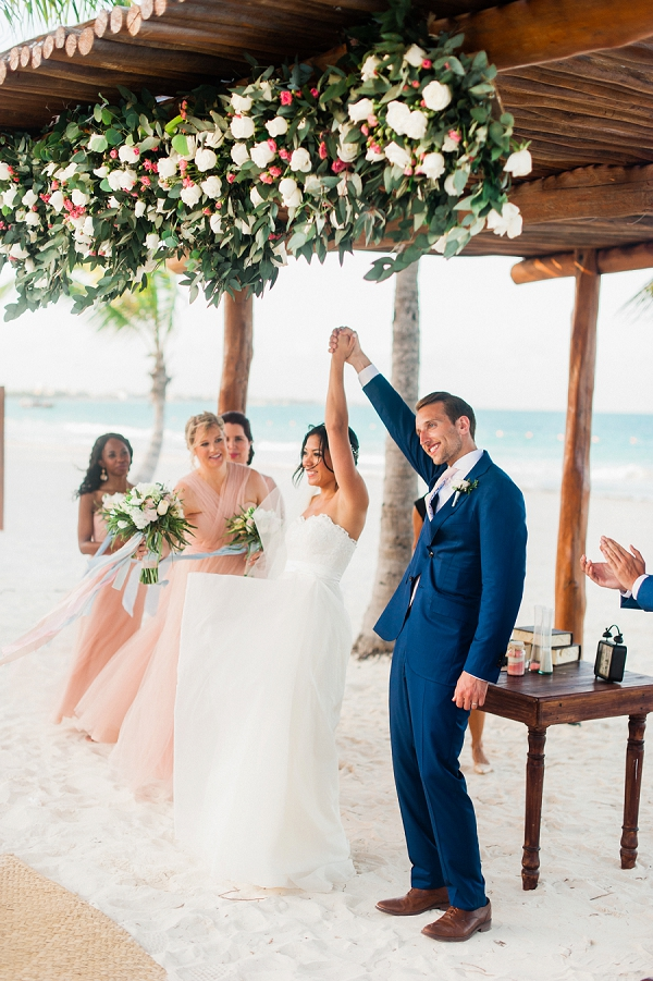 Beach Wedding Ceremony | Colorful Destination Wedding In Mexico By Brittany Lauren Photography