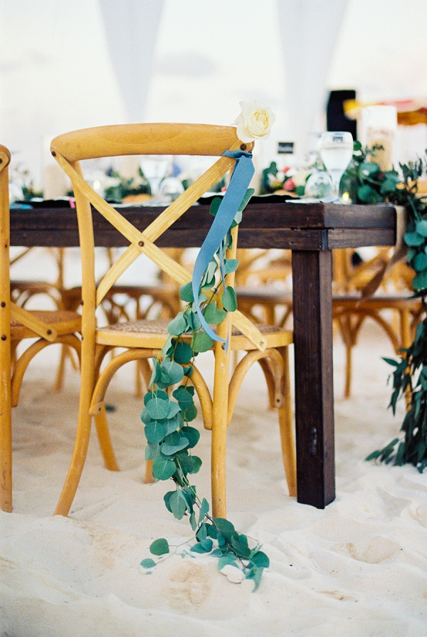Wedding Chair Decor Idea | Colorful Destination Wedding In Mexico By Brittany Lauren Photography