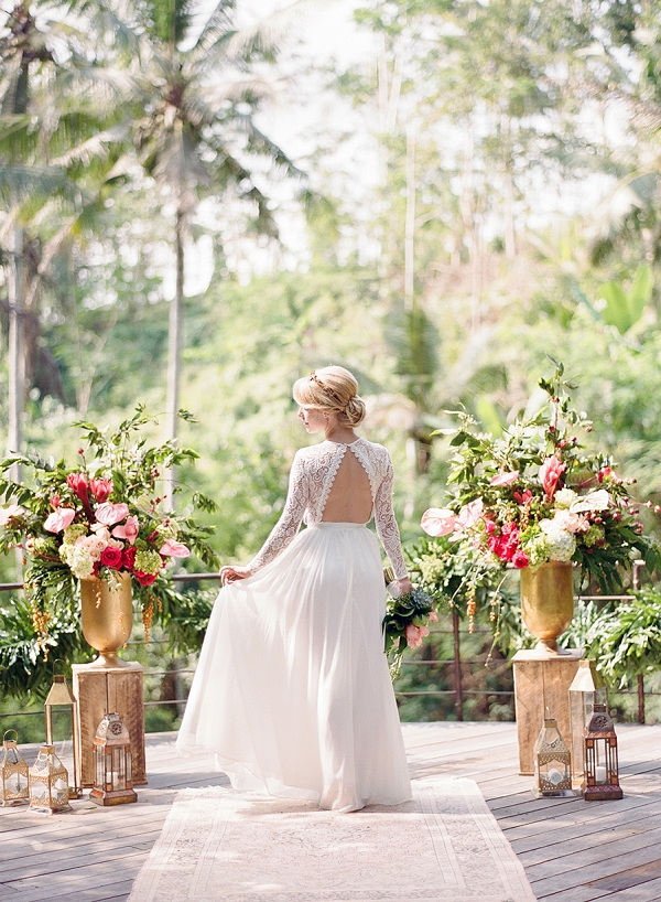 Wedding Dress with Statement Back   Dream Elopement In Bali By Audra Wrisley Photography