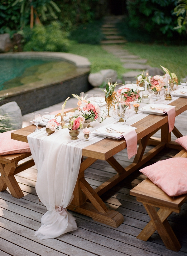 Romantic Tropical Wedding Tablescape   Dream Elopement In Bali By Audra Wrisley Photography