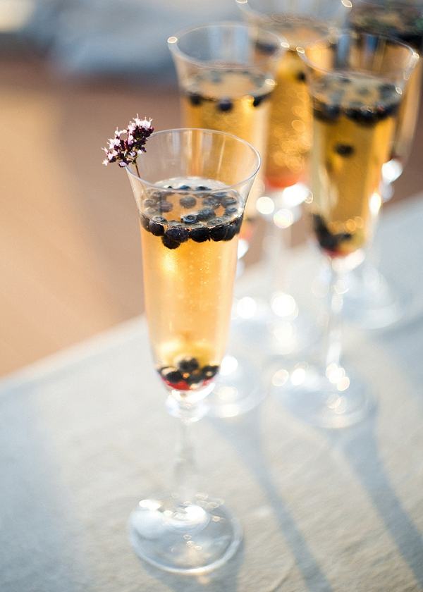 Bridal Shower Champagne with Blueberries | Garden Bridal Shower Inspiration By Yulia Tarasova Photography