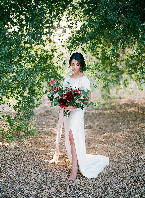 Bride with Stunning Bouquet | Romantic Bridal Inspiration from BW Member Samantha Kirk Photography