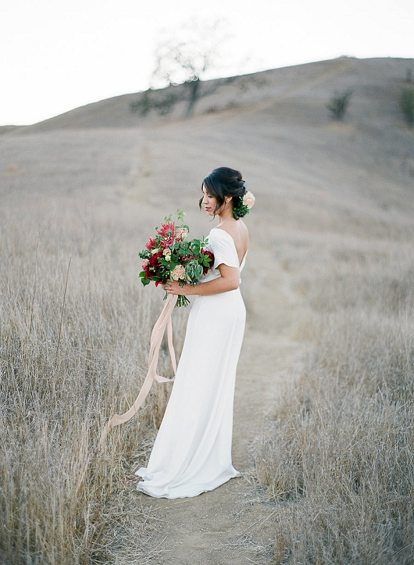 Bride with Lush Bouquet | Romantic Bridal Inspiration from BW Member Samantha Kirk Photography