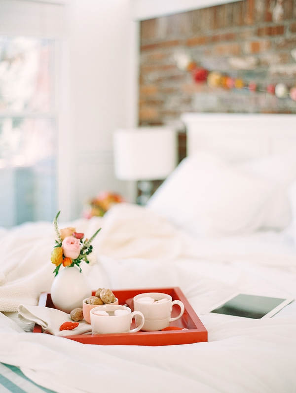 Breakfast In Bed   Romantic Valentine's Day Inspiration By Lexy Ward and Michele Hart Photography