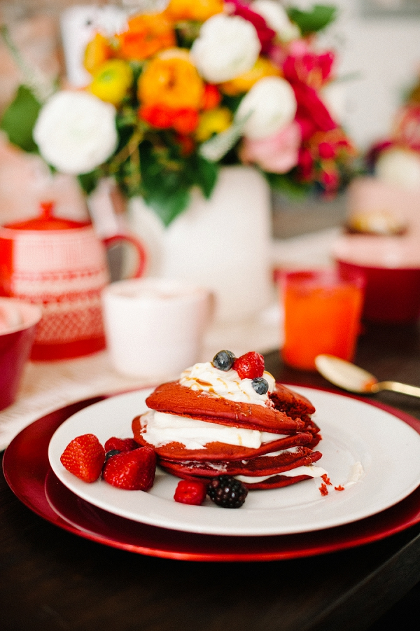 Valentine's Day Breakfast Pancakes   Romantic Valentine's Day Inspiration By Lexy Ward and Michele Hart Photography