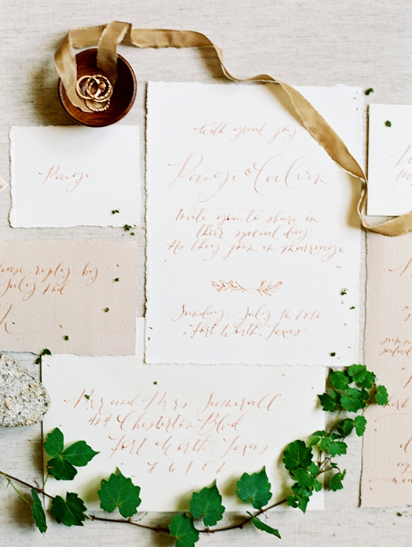 Fine Art Wedding Invitation Suite | Romantic Industrial Wedding Inspiration | Haystack Film Community | Grit + Gold