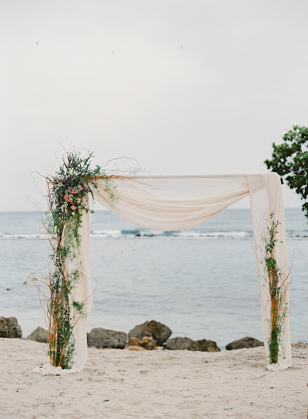 Beach Wedding Arch | Dominican Republic Resort Wedding By Carrie King Photographer