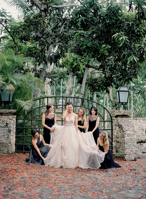 Bride and Bridesmaids Portrait | Dominican Republic Resort Wedding By Carrie King Photographer