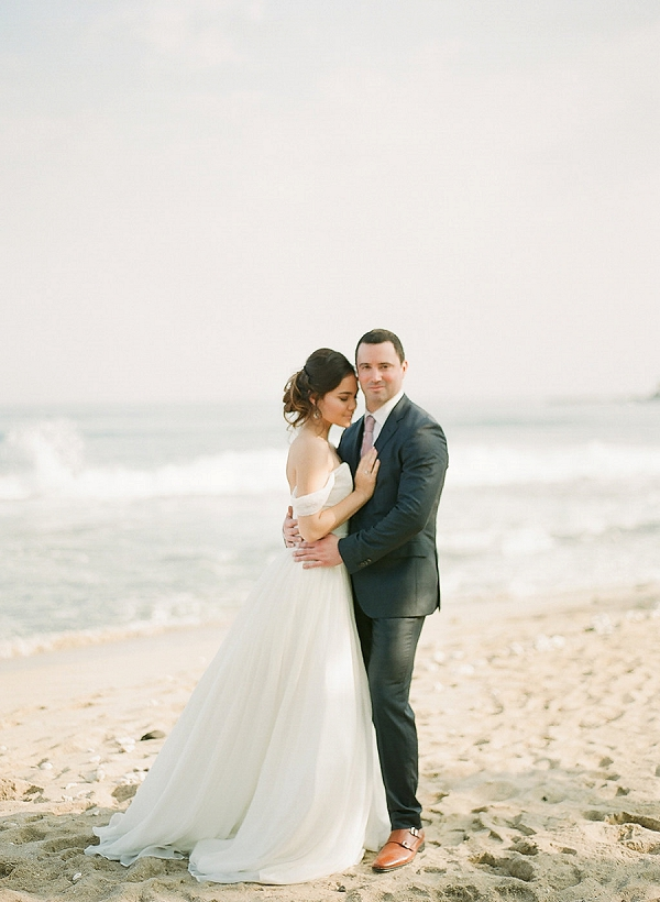 Bride and Groom in Hawaii | Elegant Seaside Wedding Inspiration In Hawaii from Bonphotage