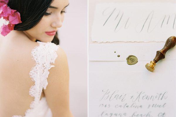 Lace Wedding Dress | Old World Spanish Style Wedding Inspiration By Savan Photography