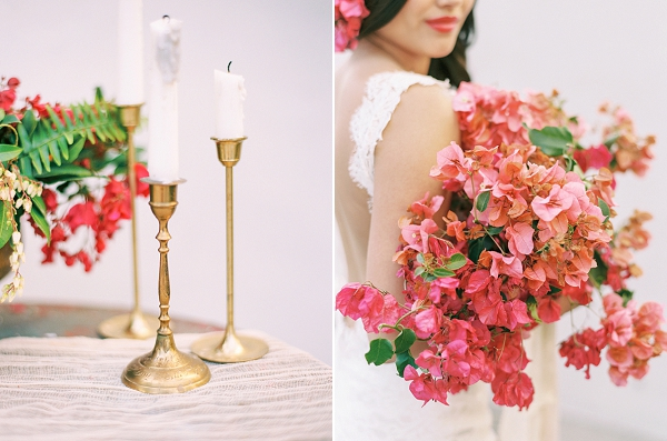 Bougainvillea Wedding Bouquet | Old World Spanish Style Wedding Inspiration By Savan Photography
