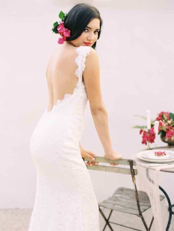 Open Back Wedding Dress | Old World Spanish Style Wedding Inspiration By Savan Photography