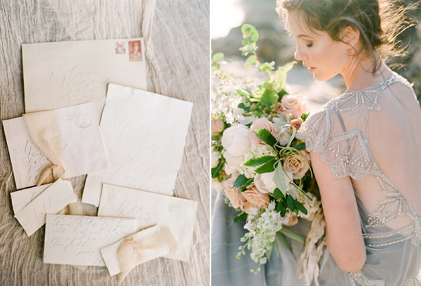 Calligraphy Invitation Suite   Organic Coastal Wedding Inspiration by Connie Whitlock Photography
