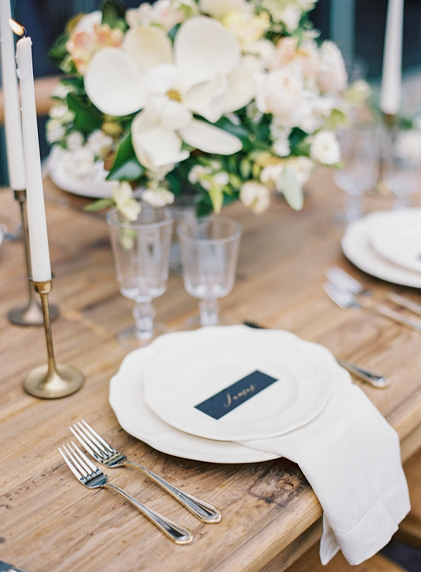 Romantic Wedding Tablescape | Classic Wedding Inspiration By Rachel May Photography
