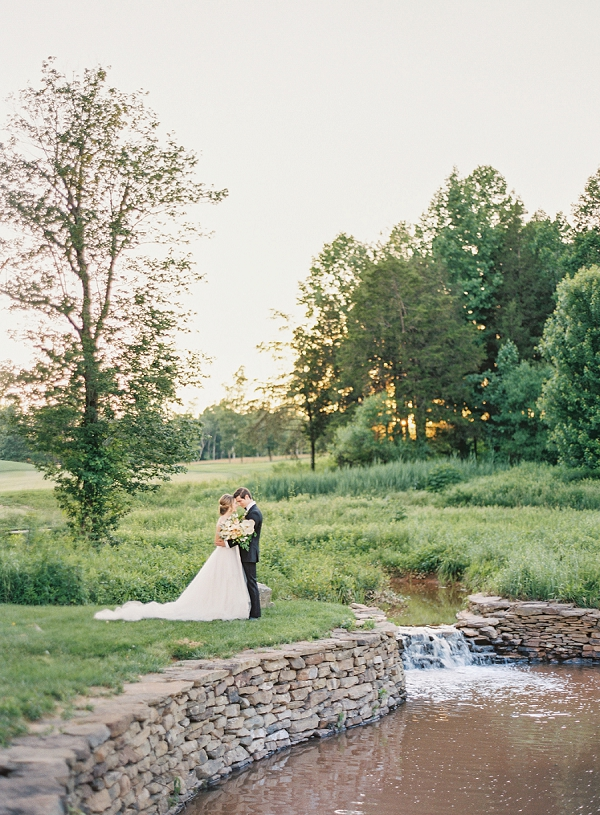 Outdoor Bride and Groom Portraits | Classic Wedding Inspiration By Rachel May Photography
