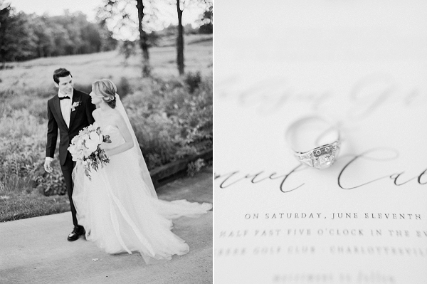 Black and White Wedding Photos | Classic Wedding Inspiration By Rachel May Photography