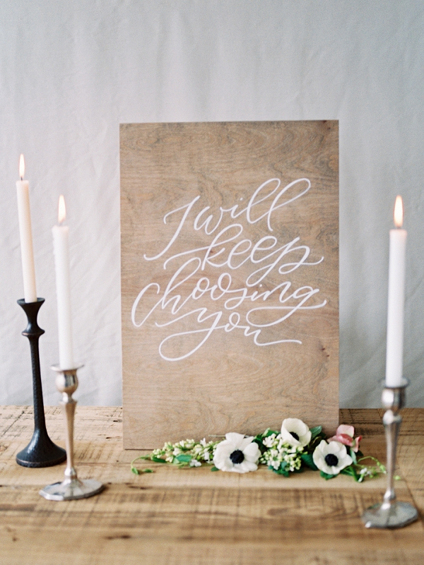 Elegant Calligraphy   Romantic Watercolor Wedding Inspiration By Callie Hobbs Photography