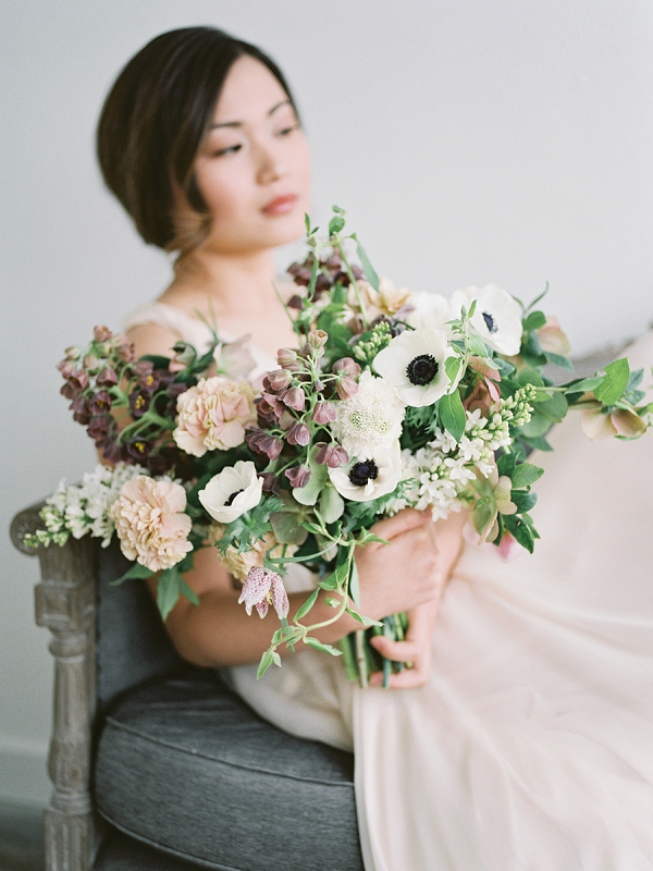 Dreamy Bridal Portrait   Romantic Watercolor Wedding Inspiration By Callie Hobbs Photography