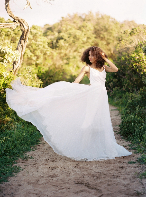 Handmade Bridal Gown By Cathleen Jia | Serene Coastal Bridal Inspiration by Ashton Jean-Pierre Photography