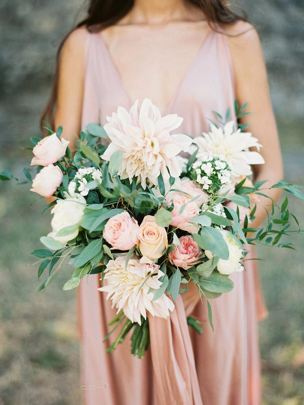 Lush Bouquet in Soft Shades | Blush Garden Wedding Inspiration by Matoli Keely Photography